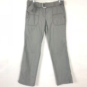 LOFT Cargo Pant Grey St Leg 100% Cotton Size 2P